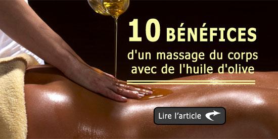10 bénéfices d'un massage du corps avec de l'huile d'olive