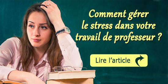 gerer stress professeur