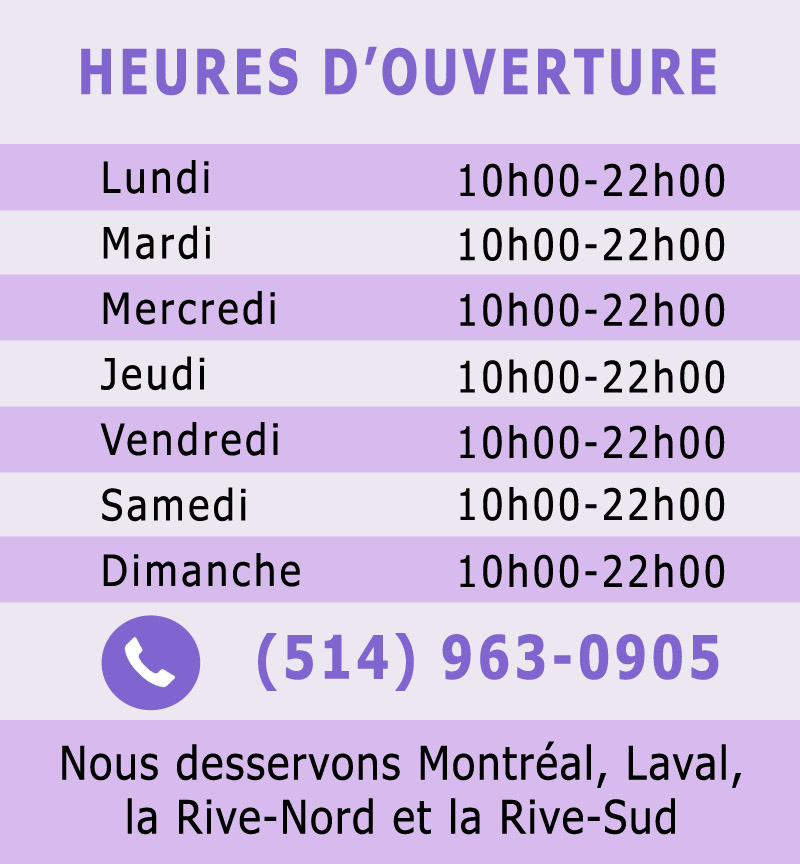 Heures d'ouverture Spa-Mobile
