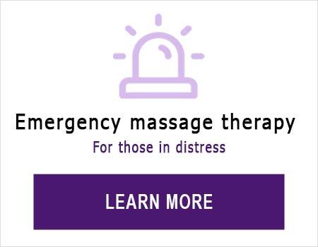 Emergency massage therapy