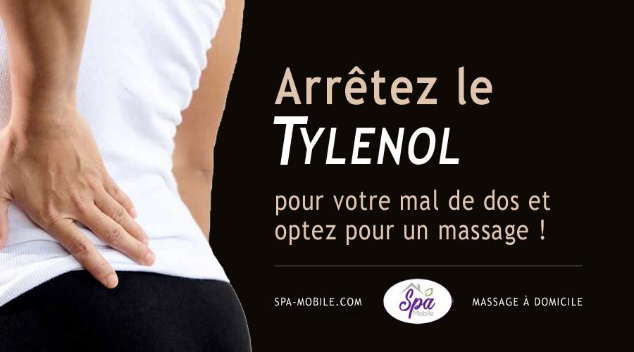 Arrêtez le Tylenol pour votre mal de dos et optez pour un massage !