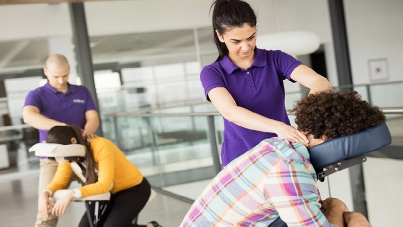 Seated massage for events