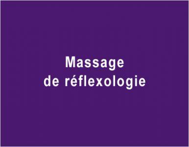 Massage de réflexologie