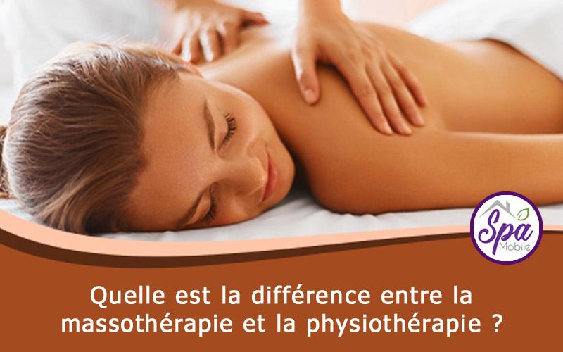 Quelle est la différence entre la massothérapie et la physiothérapie?
