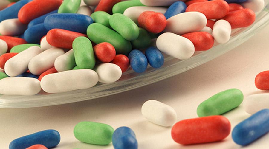 Médicaments et bonbons