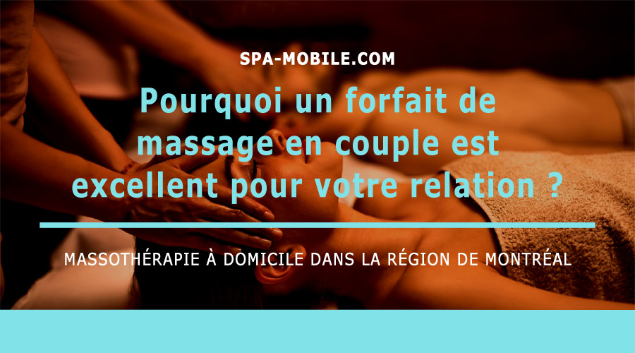 forfait de massage en couple