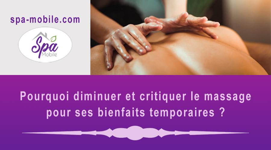 massage pour ses bienfaits temporaires